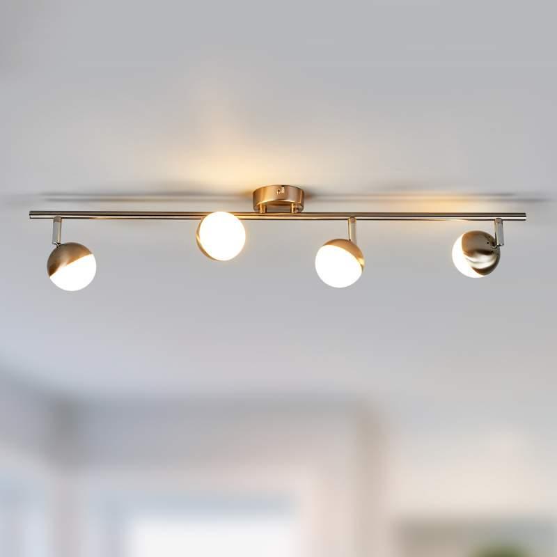 Discrete LED plafondlamp Jonne, mat nikkel