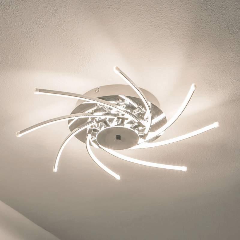 Ingedraaide LED-plafondlamp Hanne
