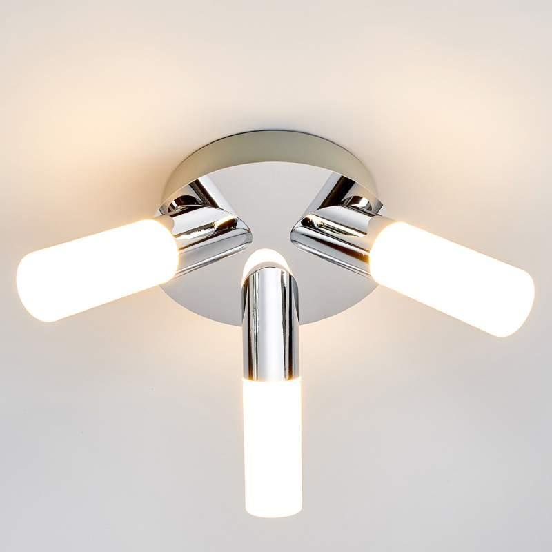 Drielamps LED-badkamerplafondlamp Benaja