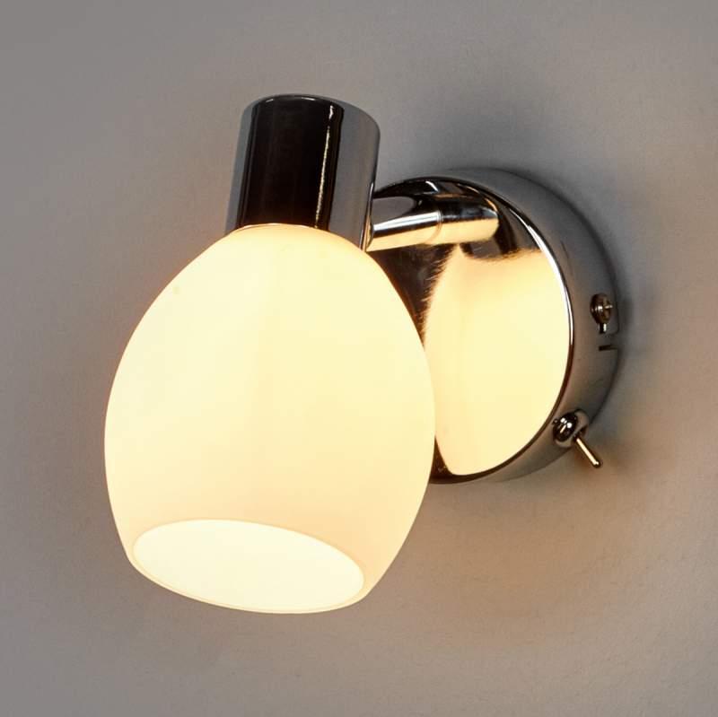 LED wandlamp Aidan met glasscherm