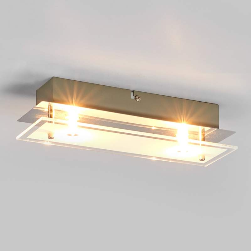 Levy - LED plafondlamp uit glas met G9 lampen