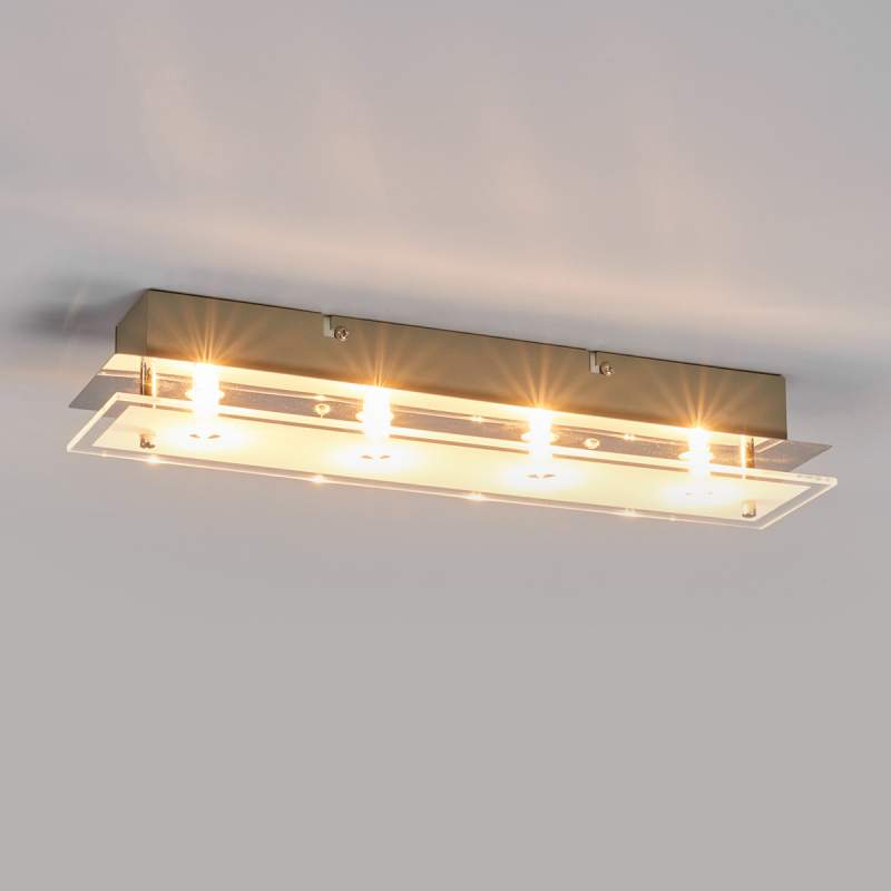 Glazen plafondlamp Levy met LED lampen