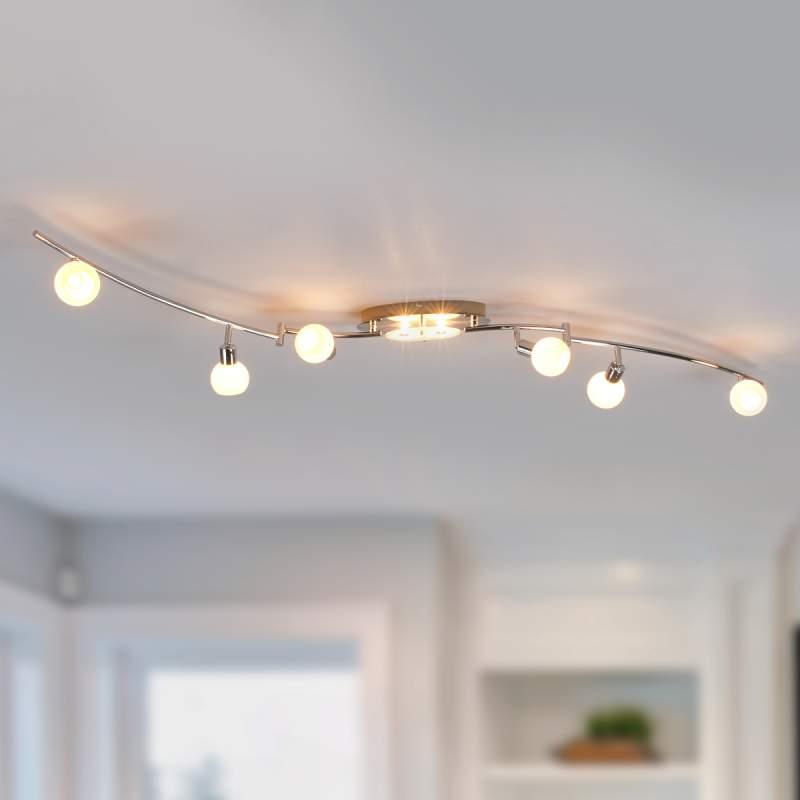 LED plafondlamp Evaletta met acht lichtbr, G9 lamp