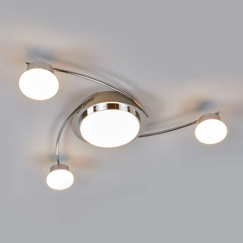 Verchroomde led plafondlamp Vitus