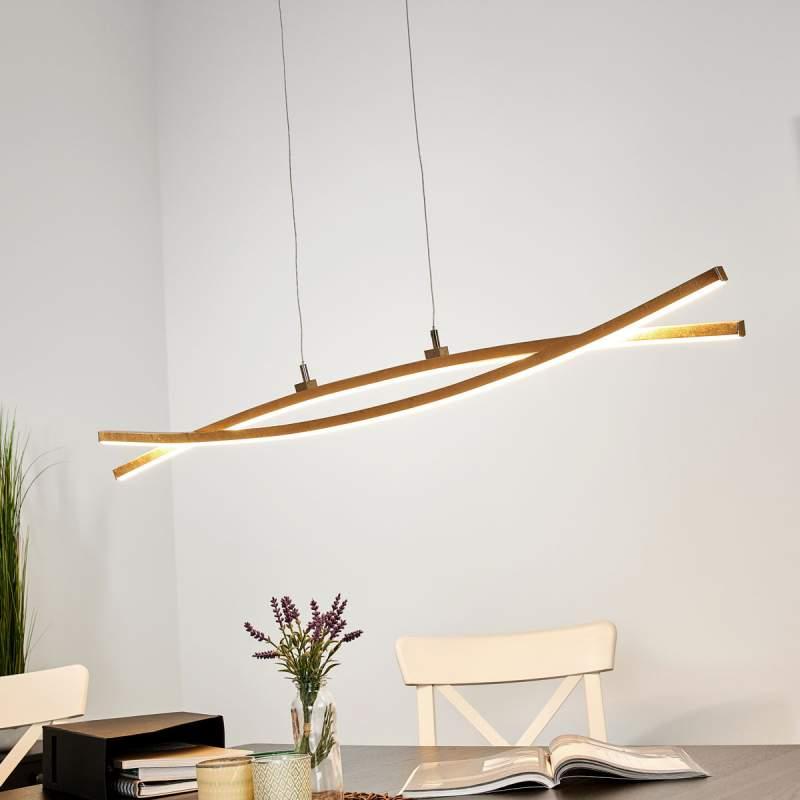 Gouden LED hanglamp Florentina