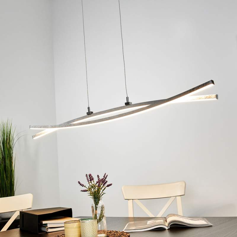 Gracieuze LED hanglamp Florentina in zilver