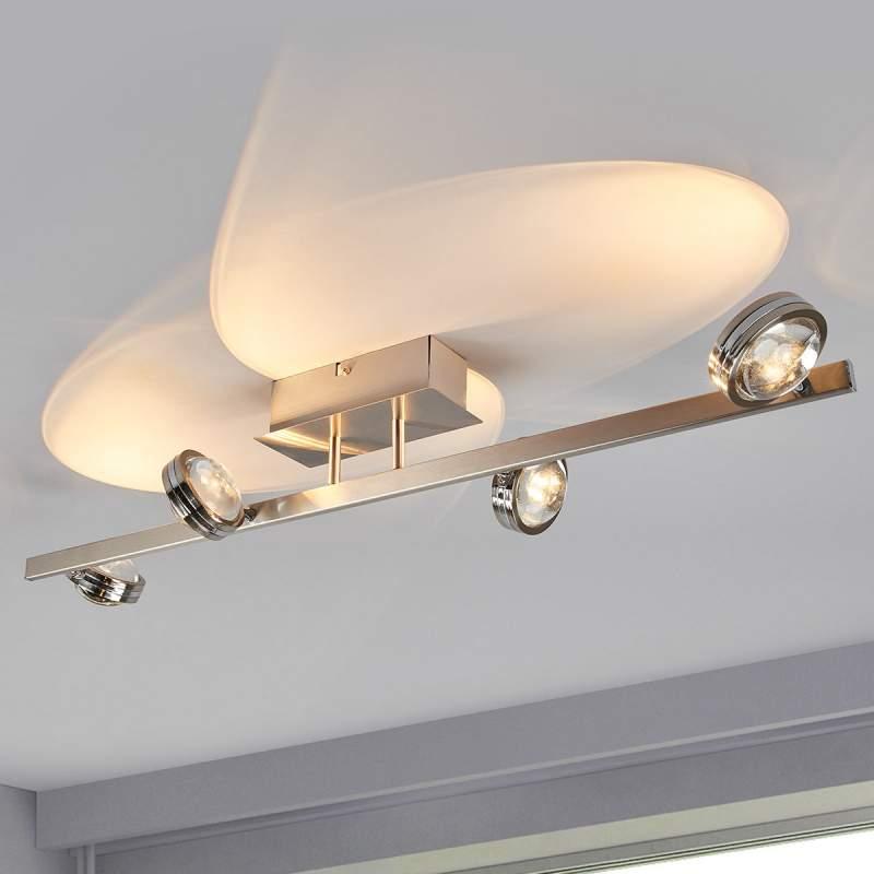 Pablos - 4.lamps LED plafondlamp, chroom