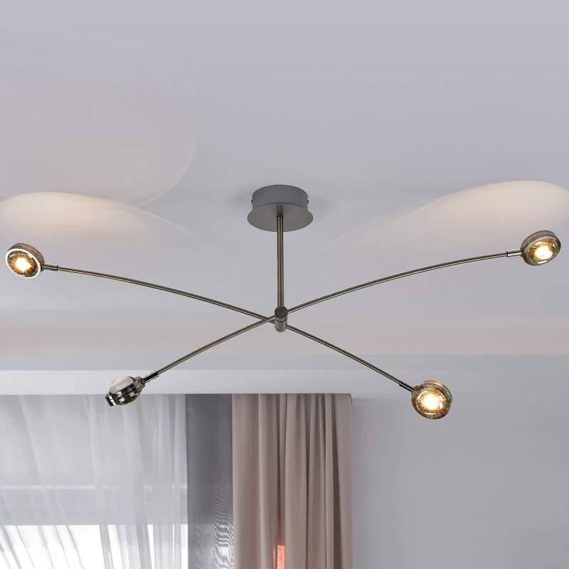 Extravagante LED plafondlamp Pablos, vier lampjes