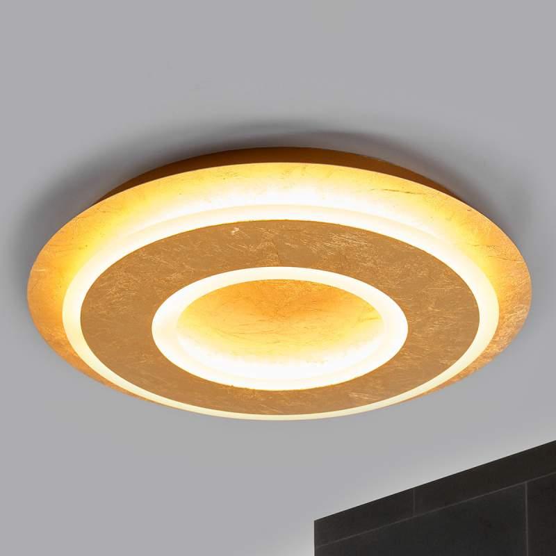 Juran - ronde LED plafondlamp in goud