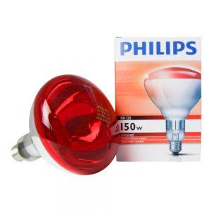 Philips BR125 IR 150W E27 230-250V Rood