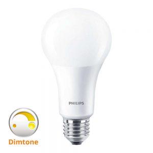 Philips LEDbulb E27 A67 15W 827 Mat (MASTER)   DimTone Dimbaar - Vervangt 100W