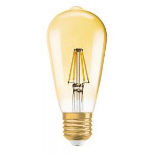 Osram Vintage 1906 LED E27 Edison 6.5W 824 Goud | Dimbaar - Vervangt 50W