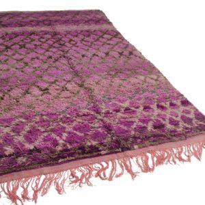 Beni Mguild paars 350cm x 200cm hoogpolig vloerkleed