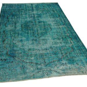 vintage vloerkleed blauw 280cm x 166cm
