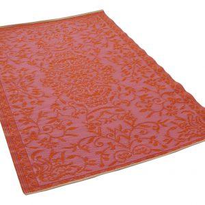 Buitenkleed roze oranje van gereycled gevlochten kunststof 180cm x 120cm