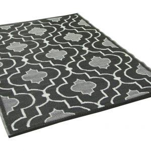 Buitenkleed zwart wit gemaakt van gerecycled kunststof 210cm x 150cm