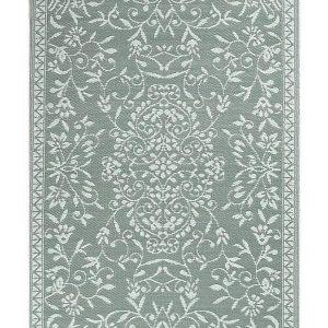 Buitenkleed grijs wit van gerecycled gevlochten kunststof 180cm x 120cm