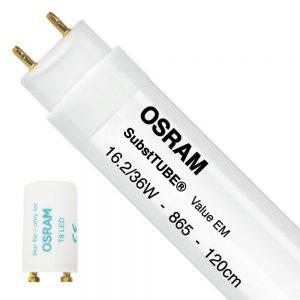 Osram SubstiTUBE Value EM 16.2 865 120cm | Daglicht - incl. LED Starter - Vervangt 36W