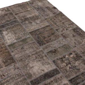 Patchwork vloerkleed, grijs, 240cm x 170cm