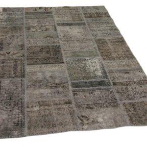 patchwork vloerkleed grijs 240cm x 170cm