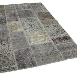 grijs patchwork vloerkleed 240cm x 170cm
