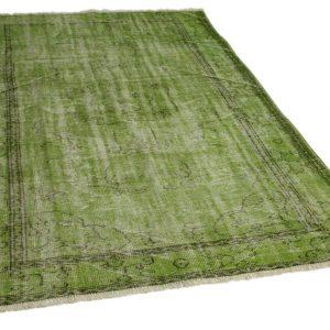 vintage vloerkleed groen 272cm x 195cm