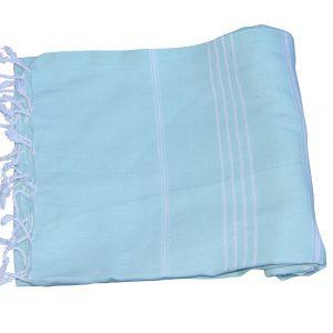 Hamamdoek, licht turquoise 100% katoen 100cm x 180cm 100% geweven katoenen handdoek.