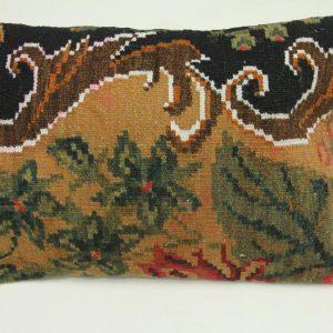 Rozenkelim kussen nr 1560 (60cm x 40cm) Kussen gemaakt van authentieke rozenkelim, inclusief binnenkussen