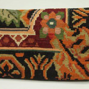 Rozenkelim kussen nr 1579 (60cm x 40cm) Kussen gemaakt van authentieke rozenkelim, inclusief binnenkussen