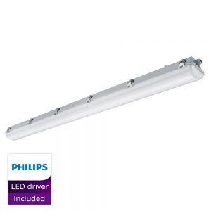 Noxion LED Armatuur Waterdicht Pro 150cm 4000K 6600lm | GVK - Doorvoerbedrading (5x2.5mm2) - Vervangt 2x58W