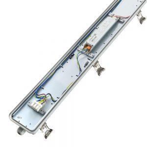 Noxion LED Armatuur Waterdicht Pro 120cm 4000K 4500lm | Doorvoerbedrading (5x2.5mm2) - Vervangt 2x36W