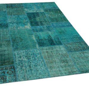 patchwork vloerkleed blauw 240cm x 170cm