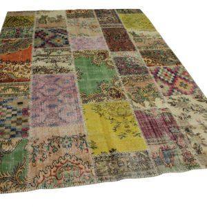 patchwork vloerkleed 301cm x 210cm