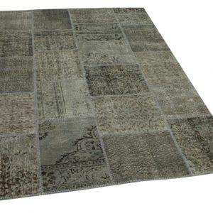 patchwork vloerkleed grijs 235cm x 168cm