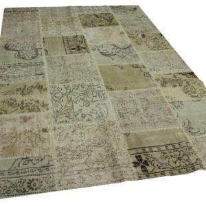 patchwork vloerkleed beige 300cm x 200cm