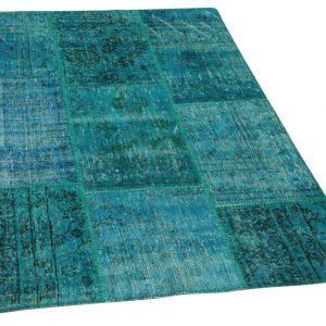 patchwork vloerkleed blauw 180cm x 120cm