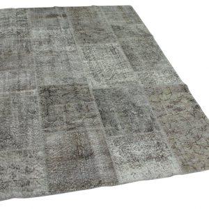 patchwork vloerkleed grijs 241cm x 170cm