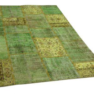 patchwork vloerkleed groen 230cm x 160cm