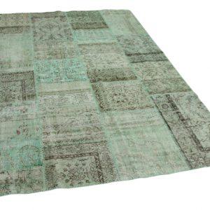 patchwork vloerkleed groen 300cm x 200cm