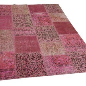 patchwork vloerkleed roze 235cm x 163cm (libelle kerst 2018)