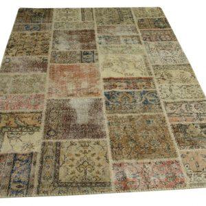 patchwork vloerkleed aardetinten 240cm x 170cm