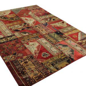patchwork vloerkleed 275cm x 200cm