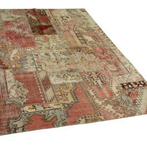 patchwork vloerkleed 242cm x 178cm