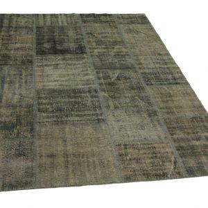 patchwork vloerkleed grijs 245cm x 170cm
