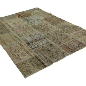 patchwork vloerleed vintage zandkleurig 240cm x 170cm