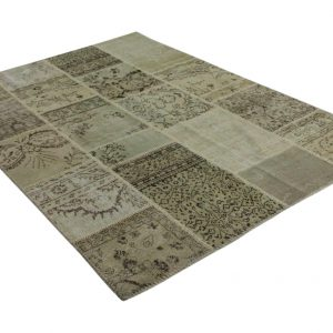 zandkleurig patchwork vloerkleed 240cm x 170cm
