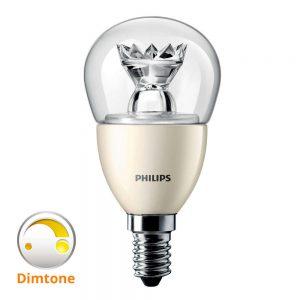 Philips LEDluster E14 P50 8W 827 Helder (MASTER)   DimTone Dimbaar - Vervangt 60W