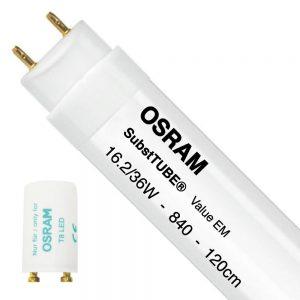 Osram SubstiTUBE Value EM 16.2 840 120cm | Koel Wit - incl. LED Starter - Vervangt 36W