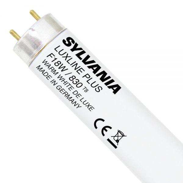 Sylvania T8 Luxline Plus F18W 830   60cm - Warm Wit