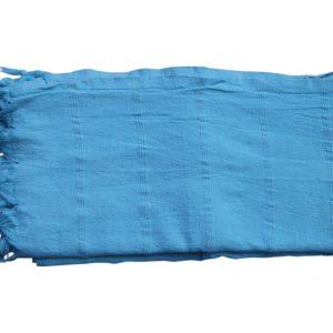 verwassen hamamdoek aquablauw 165cm x 85cm